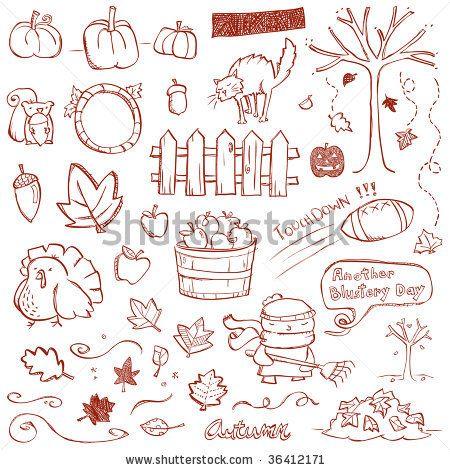 Autumn Doodles by Erica Truex, via Shutterstock