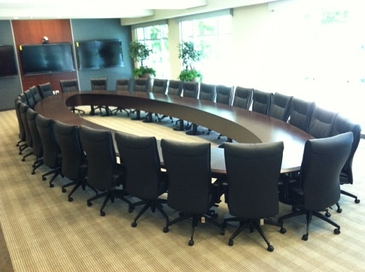 Sage Publications large circular conference table