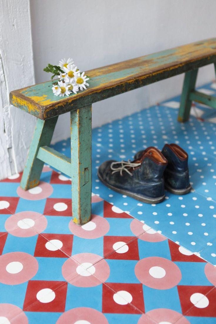 carreaux ciment petit pan carocim carreaux couleur mosaicos pinterest benches fans and. Black Bedroom Furniture Sets. Home Design Ideas