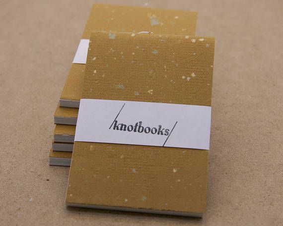 Mini Light Brown Handmade Paper with Speckles Softcover