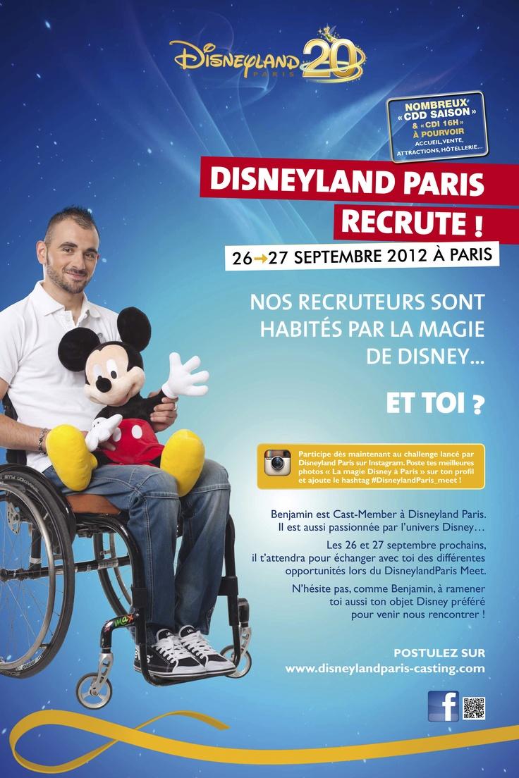 Disneyland Paris organise une nouvelle session de recrutement en Ile-de-France pour CDD petites et grandes vacances ! Vous désirez effectuer une expérience de travail dans un environnement unique, innovant, professionnel et «fun», postulez pour un CDD pour : · Toussaint, Noël, février, mars, Ete. Nous recherchons : · Employé de restauration H/F · Serveur H/F · Commis de cuisine H/F · Vendeur boutique H/F · Opérateur animateur d'attractions H/F · Hôte de billetterie H/F