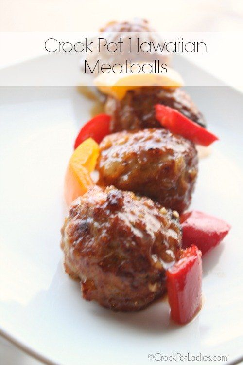 Crock-Pot Hawaiian Meatballs – This simple recipe for Crock-Pot Hawaiian Meatballs is a crowd pleaser, You can easily double this recipe and cook in a larger slow cooker (6-7 quart) and take to your next pot-luck party. Or, serve over some rice with a side of stir-fry vegetables for a quick and easy family-friendly main dish!