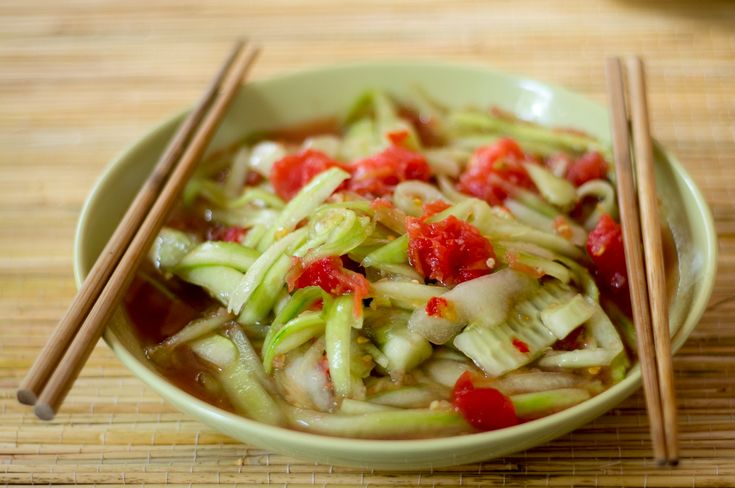Cooking in the summer heat - Laotian cucumber salad