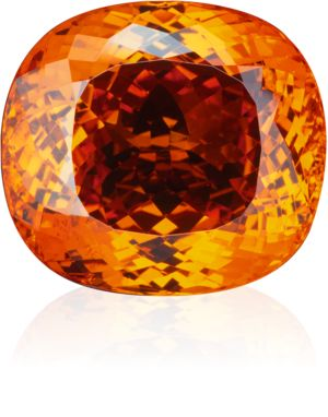 orange-coloured mandarin garnet, antique cut,   over 70 ct, found in Nigeria