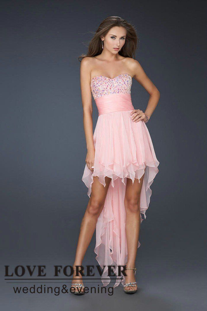 Cheap prom dresses long in back short in front