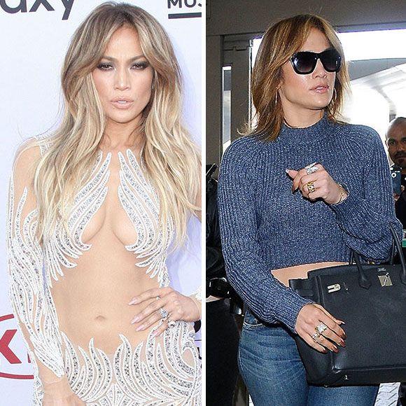 Jennifer Lopez a les cheveux courts et se fait attaquer à l'aéroport de Los Angeles | HollywoodPQ.com