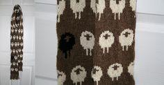 Sheep scarf, free pattern