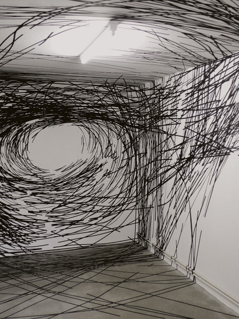 "Monika Grzymala Spins ""3-D"" Drawings From 27,000 Feet Of Tape"