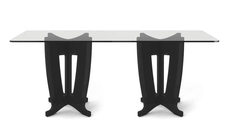 Manhattan Comfort Jane 2.0 -78.64 in Sleek Tempered Glass Table Top