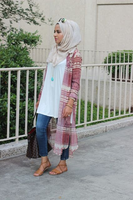 long cardigan hijab look- Hijab looks by Sincerely Maryam http://www.justtrendygirls.com/hijab-looks-by-sincerely-maryam/
