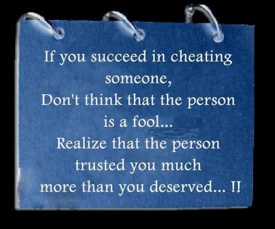 Succeed cheat fool person think deserve Quote Quotes For more visit www.searchquotes.com