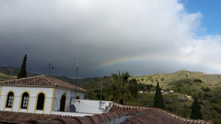 Rainbow over the hills