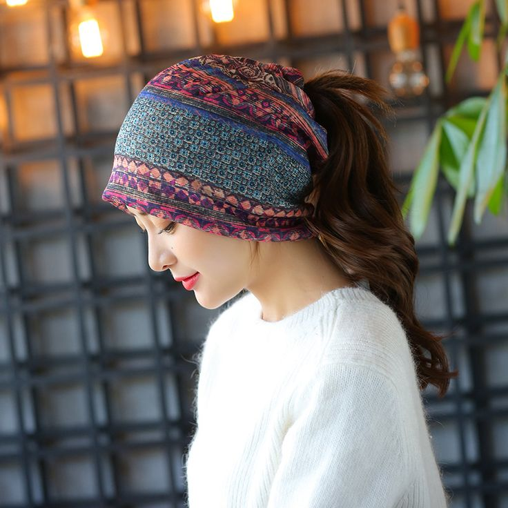 New 3 Use Hat Knitted Scarf & Winter Hats for Women Striped small squares Beanies Hip-hot Skullies Girls Gorros Women Beanies