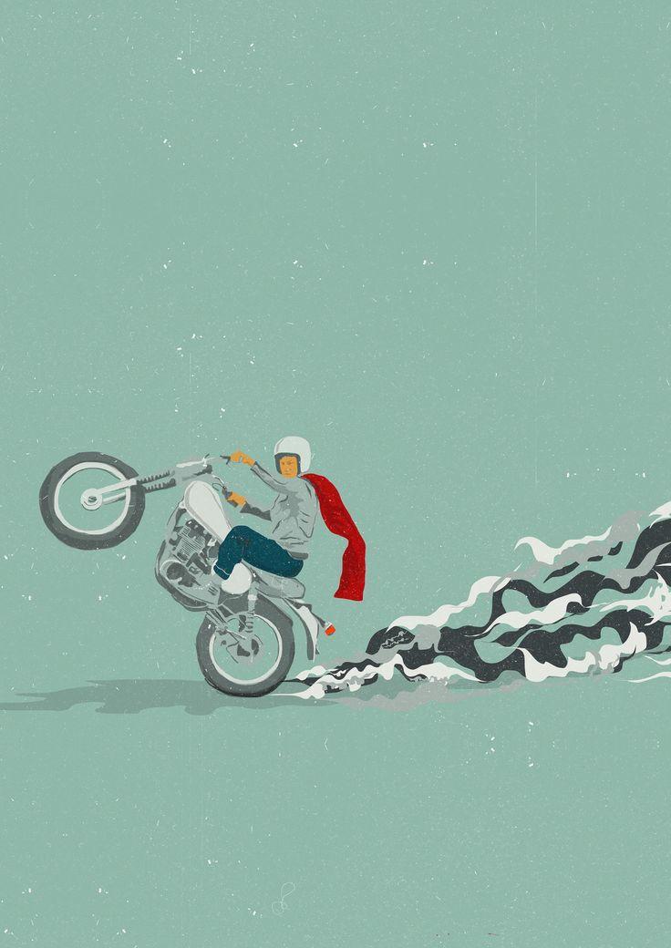 Popawheelie - Stayano #illustration #design #motorcycles #motos | caferacerpasion.com