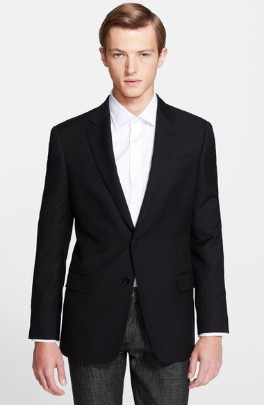Armani Collezioni 'G-Line' Trim Fit Wool Blazer available at #Nordstrom