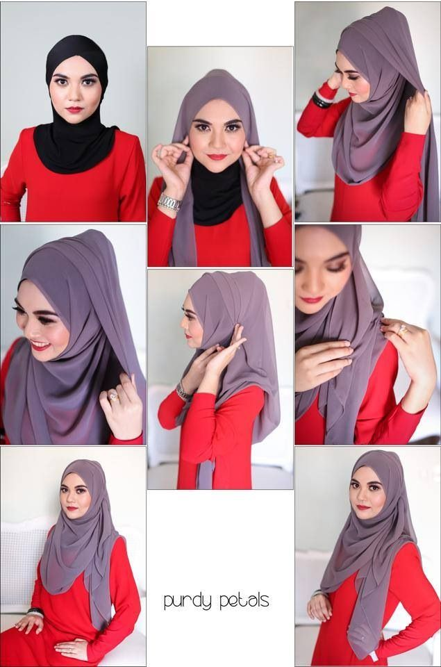 Simple and easy hijab tutorial hijab tutorial pinterest easy hijab tutorial hijab Fashion style hijab terkini