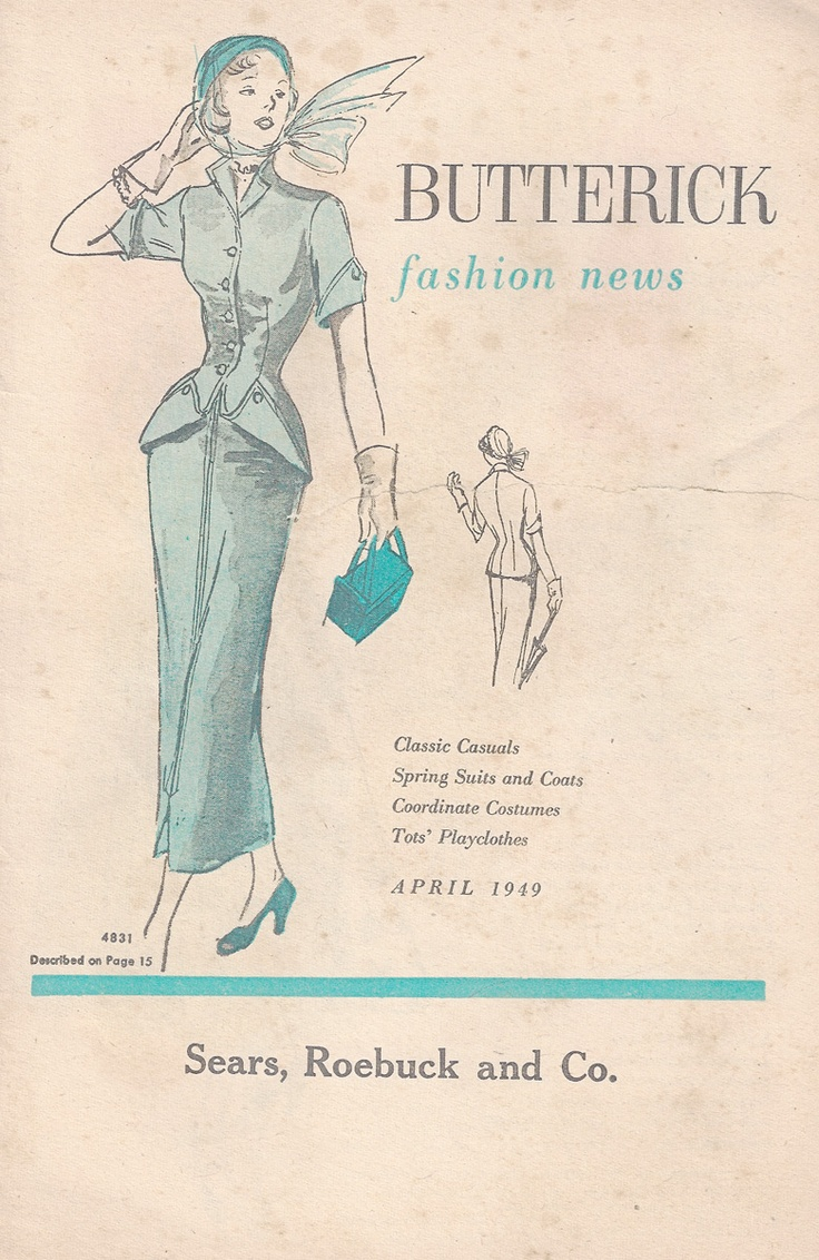 Vintage clothes fashion ads of the 1940s page 22 - An Absolutely Glorious Suit From Summer Via Elegant Musings 1940s Fashion