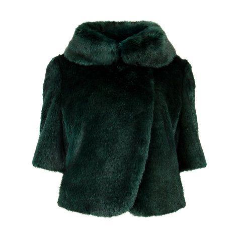 Buy Ted Baker Bionca Faux-Fur Jacket, Dark Green Online at johnlewis.com