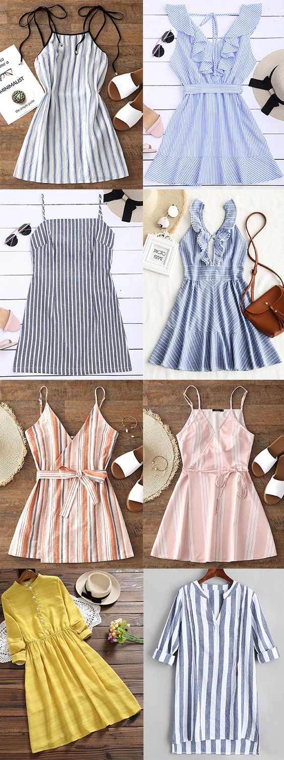 Up to 80% OFF! Striped Ruffle Criss Cross Back Mini Dress. #Zaful #Dress Zaful,zaful outfits,zaful dresses,zaful bikinis, spring outfits,summer dresses,super bowl,saint patrick, st patricks,easter, easter ideas,cute,classy,dress,long dress,maxi dress,mini dress,long sleeve dress,flounced dress,vintage dress,casual dress,lace dress,boho dress, flower dresses,maxi dresses,floral dresses,long dress,party dress,bohemian dresses,floral dress @zaful Extra 10% OFF Code:ZF2017