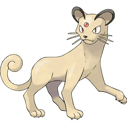 #Persian from the official artwork set for #Pokemon FireRed and LeafGreen for #GBA. http://www.pokemondungeon.com/pokemon-firered-and-leafgreen-versions