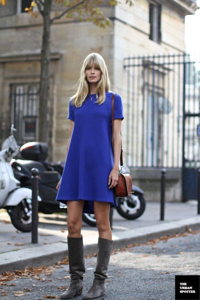 Street Style All Blue Fashion Fashionone Street Style Pinterest
