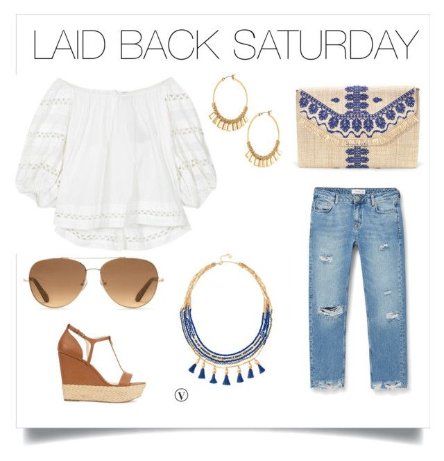 Laid back Saturday by traceyrapson on Polyvore featuring polyvore, mode, style, Intropia, MANGO, Michael Kors, Stella & Dot, fashion and clothing