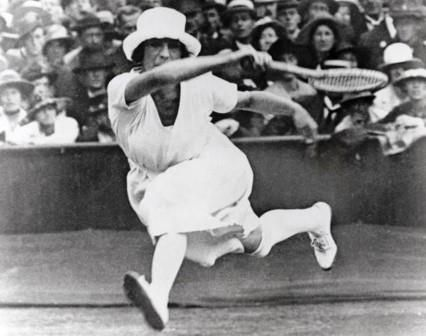 Antwerp 1920: Suzanne Lenglen of France competes in the women's tennis competition.