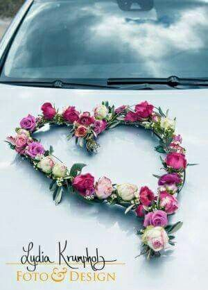 Blumen Brautauto