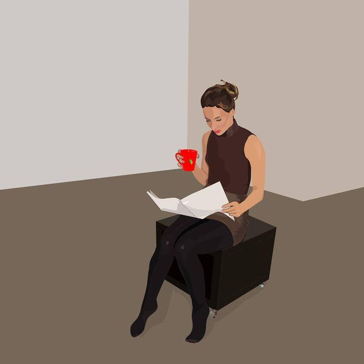 Kötvénykibocsátási tájékoztatót olvasó lány