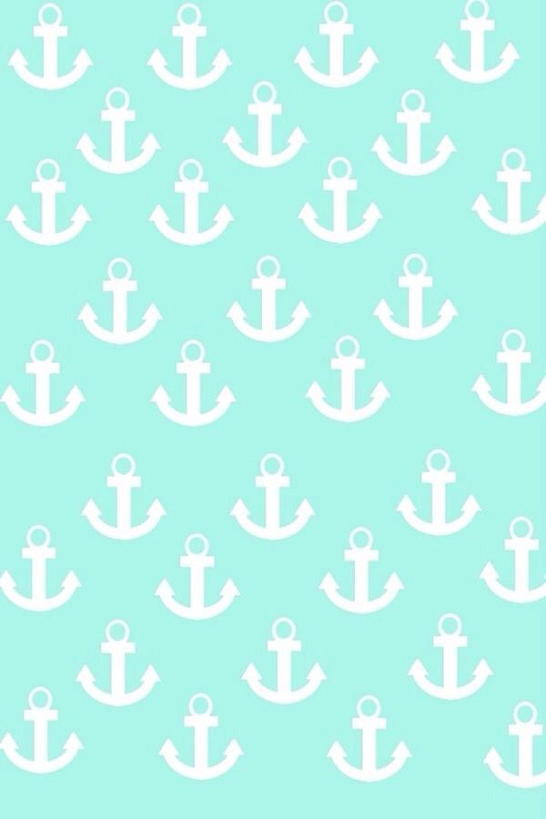 Turquoise anchor wallpaper