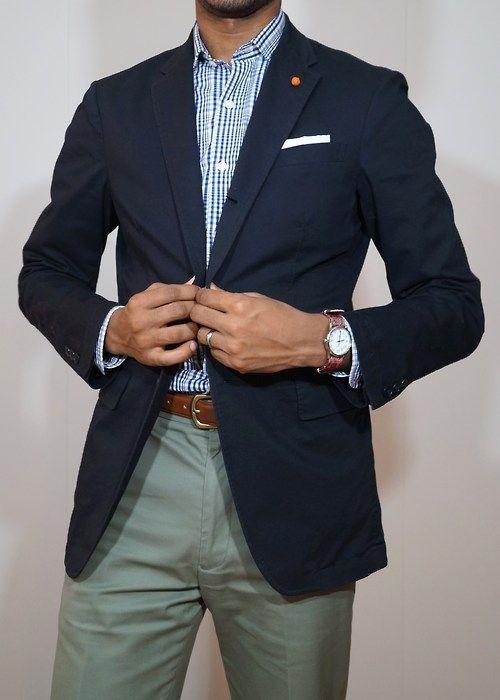 Old Men S Fashion Green Blazer And Jeans