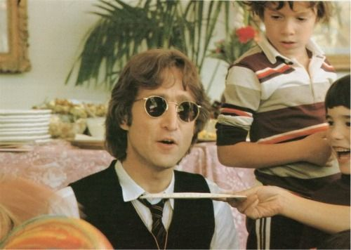 John Lennon celebrating his 38th birthday, October 9, 1978