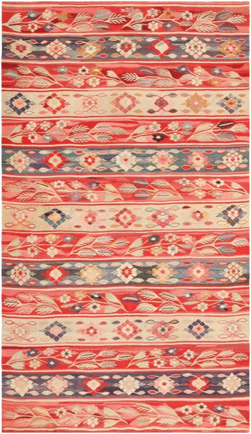 Antique Romanian Bessarabian Kilim Rug ~ I LOVE the Romanian traditional designs, wow...