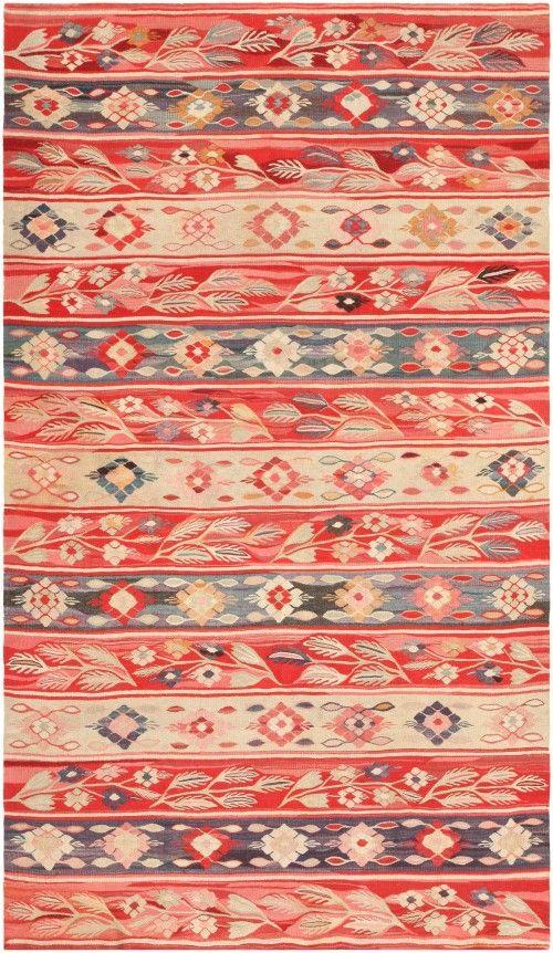 Antique Romanian Bessarabian Kilim