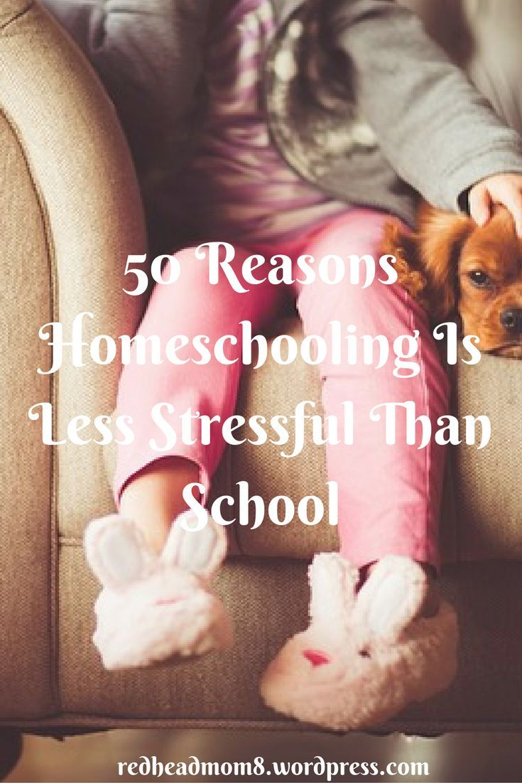 50 Reasons Homeschooling Is Less Stressful Than School