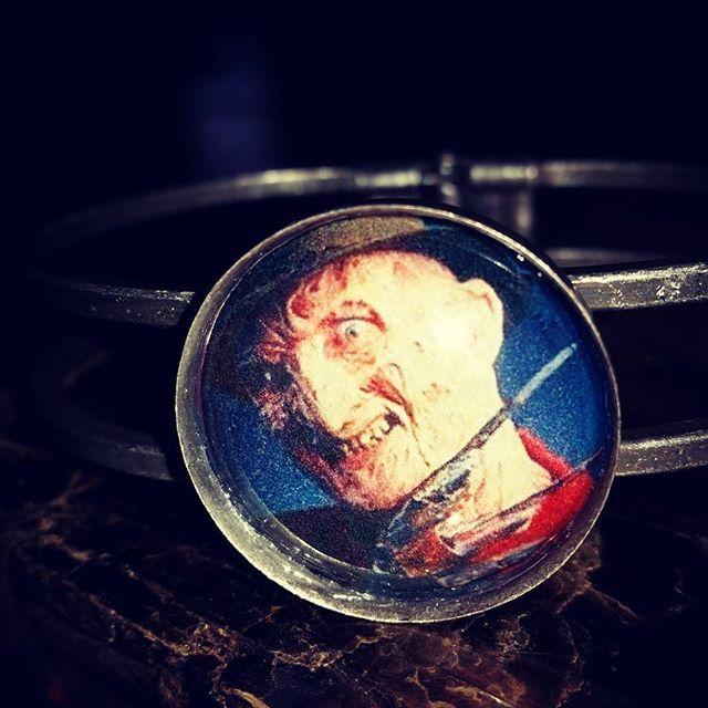 Never sleep again!  Freddy Krueger pendant bracelet now available in my #etsy shop - click the link in my bio to purchase #roadkilljill #roadkilljillcreations #horror #horrorjewelry #crafty #handmade #horrorfan #horrorlover