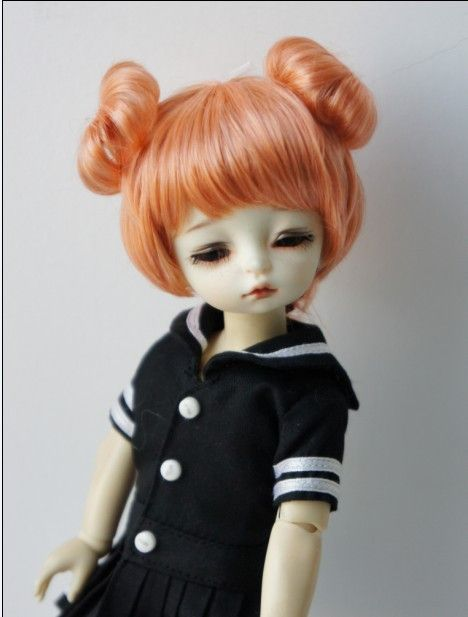1/6 Synthetic mohair BJD doll wig 6-7inch double circle concentric tail doll wigs