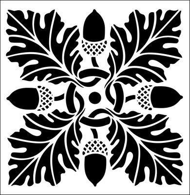 Tile No 13 stencil from The Stencil Library online catalogue. Buy stencils online. Stencil code DE100-L.