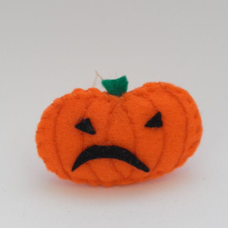 Bitter pumpkin - halloween decor, trick or treat, scary, horror, spooky, halloween decoration, cute. by HalloweenOrChristmas on Etsy