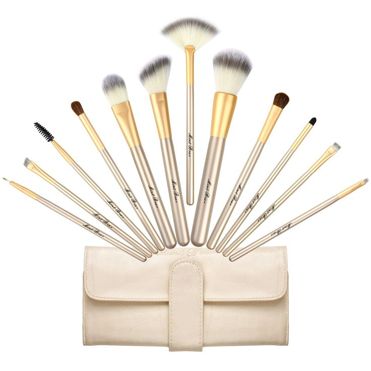 Makeup Brush Set, Premium 12 Pcs Synthetic Kabuki Face Eyeshadow Eyeliner Foundation Blending Blush Makeup Brushes Powder Liquid Cream Cosmetic Brushes Kit with Bag by MintBear. PREMIUM MATERIAL: Brushes are very soft and silky to the touch with high-density synthetic hairs, not shed hair or hurt your skin, safe for sensitive skin and easy to clean. Durable Wooden handles materials promise that the cosmetic brushes won't be easy to get broken, ensured for long time use. FULL FUNCTION SET…