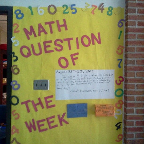 Bulletin Board Ideas For Questions: 72 Best Math Bulletin Boards Images On Pinterest