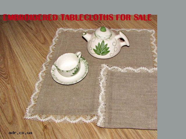 embroidered tablecloths for sale