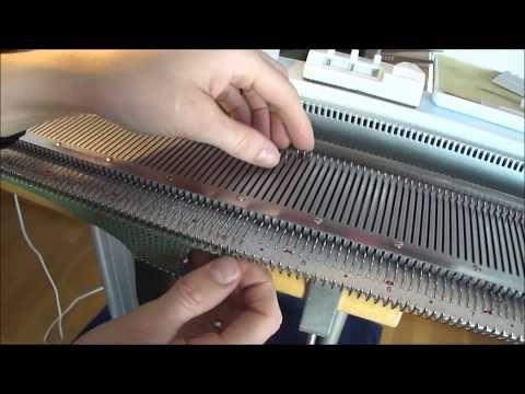 Legge opp underveis - Cast on during knitting / Norsy/Silver Reed SK280 - YouTube