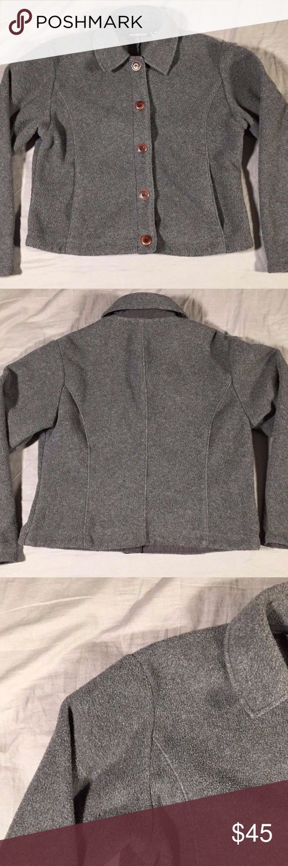 """Patagonia Synchilla Jacket Button Up Charcoal Gray Patagonia Synchilla Jacket Button Up Charcoal Gray Size Medium Good, pre-owned condition  Measurements: Pit to Pit: 20"""" Waist: 18.5"""" Length: 19.5"""" Sleeve Length: 22.5"""" Patagonia Jackets & Coats"""