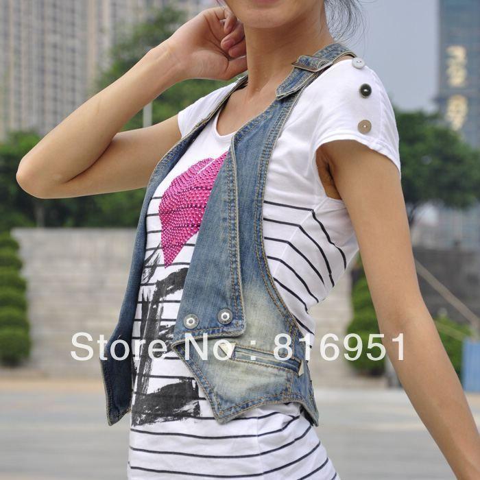 Chaqueta de los pantalones vaqueros verano nuevo halter de la llegada chaqueta de mezclilla chaleco del remiendo del cordón blue jean chaleco para mujeres en Chalecos y Chalecos de Ropa y Accesorios de las mujeres en AliExpress.com | Alibaba Group