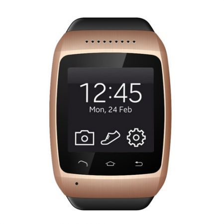 S15 Wearable Smartwatch,Camera Message Media Control/Hands-Free Calls/2MP Camera for Android/iOS - Golden