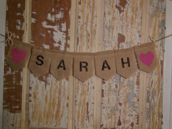 Custom Baby Name Banner Personalized Baby by IchabodsImagination, $20.00