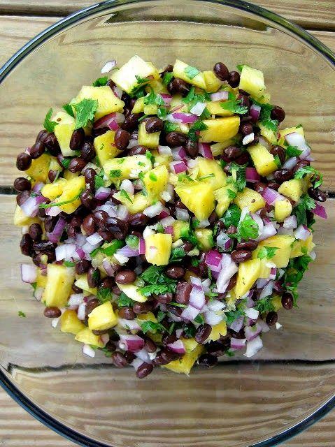 Pineapple Black Bean Salsa