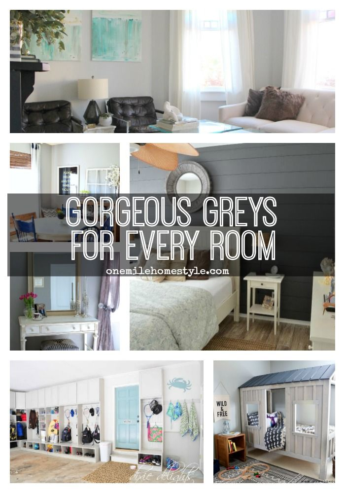 Tired of plain white walls? This is an AMAZING round-up of gorgeous grey rooms, for every room in your home!