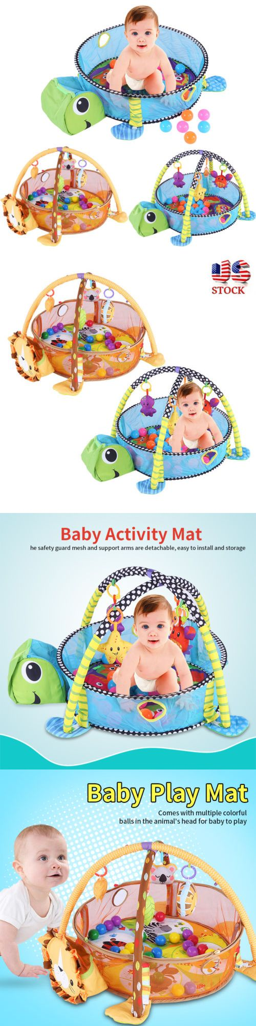 Baby Gyms and Play Mats 19069: Infant Toddler Baby Play Mat Activity Gym Playmat Floor Adorable Lion Turtle Toy -> BUY IT NOW ONLY: $34.4 on eBay!